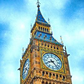 Big Ben by Pravine Chester - Buildings & Architecture Public & Historical ( building, london, clock, places, historical, architecture, big ben )