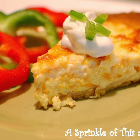 Tex-Mex Corn Tortilla Quiche