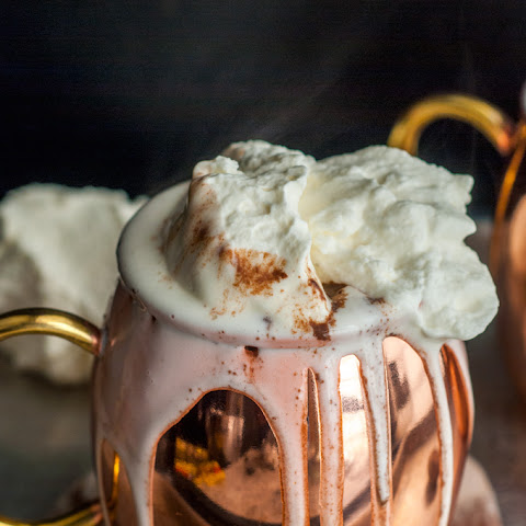 DARK HOT CHOCOLATE WITH MASCARPONE WHIPPED CREAM