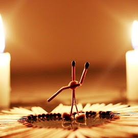 The Art Of Love by Sumit Jangra - Abstract Macro ( propose, art, #love, matchsticks, couple, propose day, valentine )