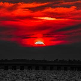 Sky On Fire by S Bizjak - Landscapes Sunsets & Sunrises ( nature, sunset, outdoors, sunrise, landscape,  )