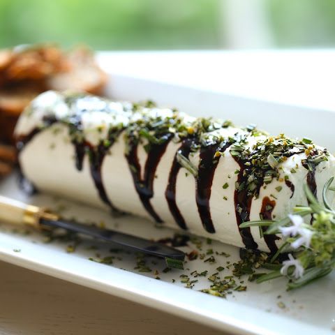 GOAT CHEESE WITH BALSAMIC GLAZE AND ROSEMARY