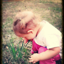 Loving flowers by Beth Preston - Babies & Children Toddlers