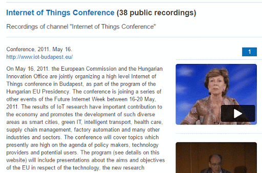 Videos from the IOT 2011 Budapest Conference cover image