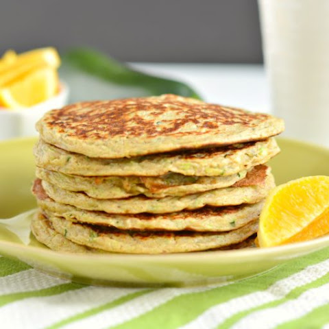 Zucchini Greek Yogurt Pancakes {GF, Low Cal}