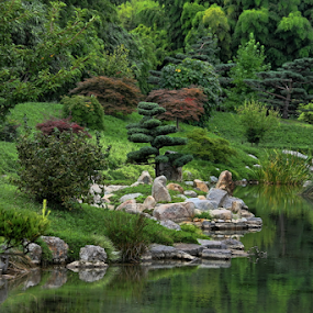 Garden by Dominic Jacob - City,  Street & Park  City Parks ( japanese garden, japan, green, zen, japanese, garden,  )