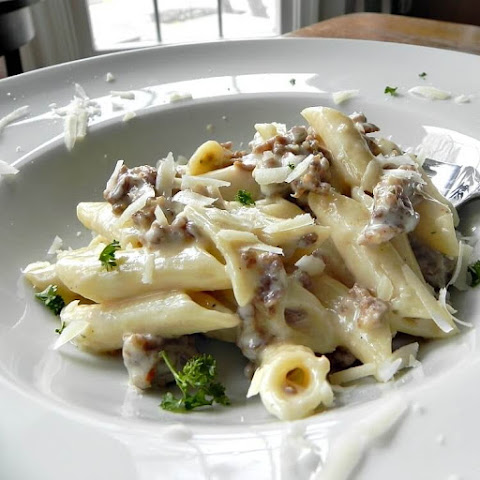 Penne with Sausage in Creamy Boursin Cheese