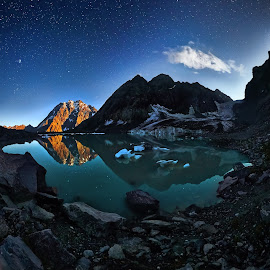 Amanauz 2 by Александр Агабабаев - Landscapes Starscapes ( stars, reflections, stone, lake, landscape )