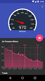 Barometer Reborn screenshot for Android