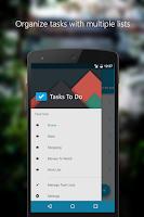 Screenshot of Tasks To Do : To-Do List
