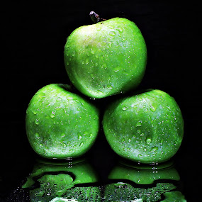 Green Apples and the Reflection by Suehana SuZie - Food & Drink Fruits & Vegetables (  )