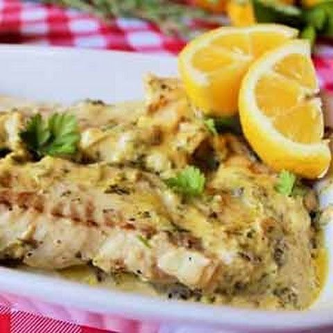 Garlic Cream Fish Fillets