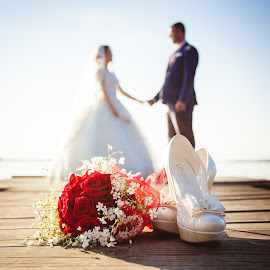 Zaklina i Aleksandar 2 by Vlada Jovic - Wedding Bride & Groom ( love, b, prewedding, happy, sunset, wedding, photoshoot, bride and groom, bride, photooftheday )