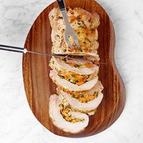 Poblano, Sweet Potato & Apple Stuffed Pork Loin