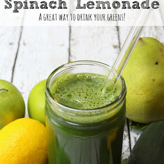 Spinach Lemonade | A Great Way To Drink Your Greens!