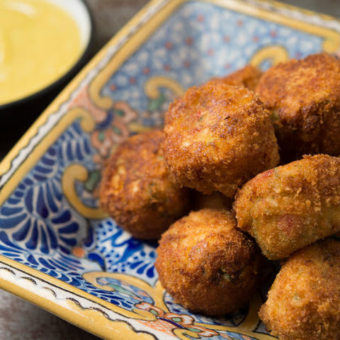 Red Pepper Crab Croquetas With Garlic-Almond Sauce