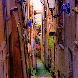 Minturno by Pip Hoeta - City,  Street & Park  Street Scenes ( minturno, italy )