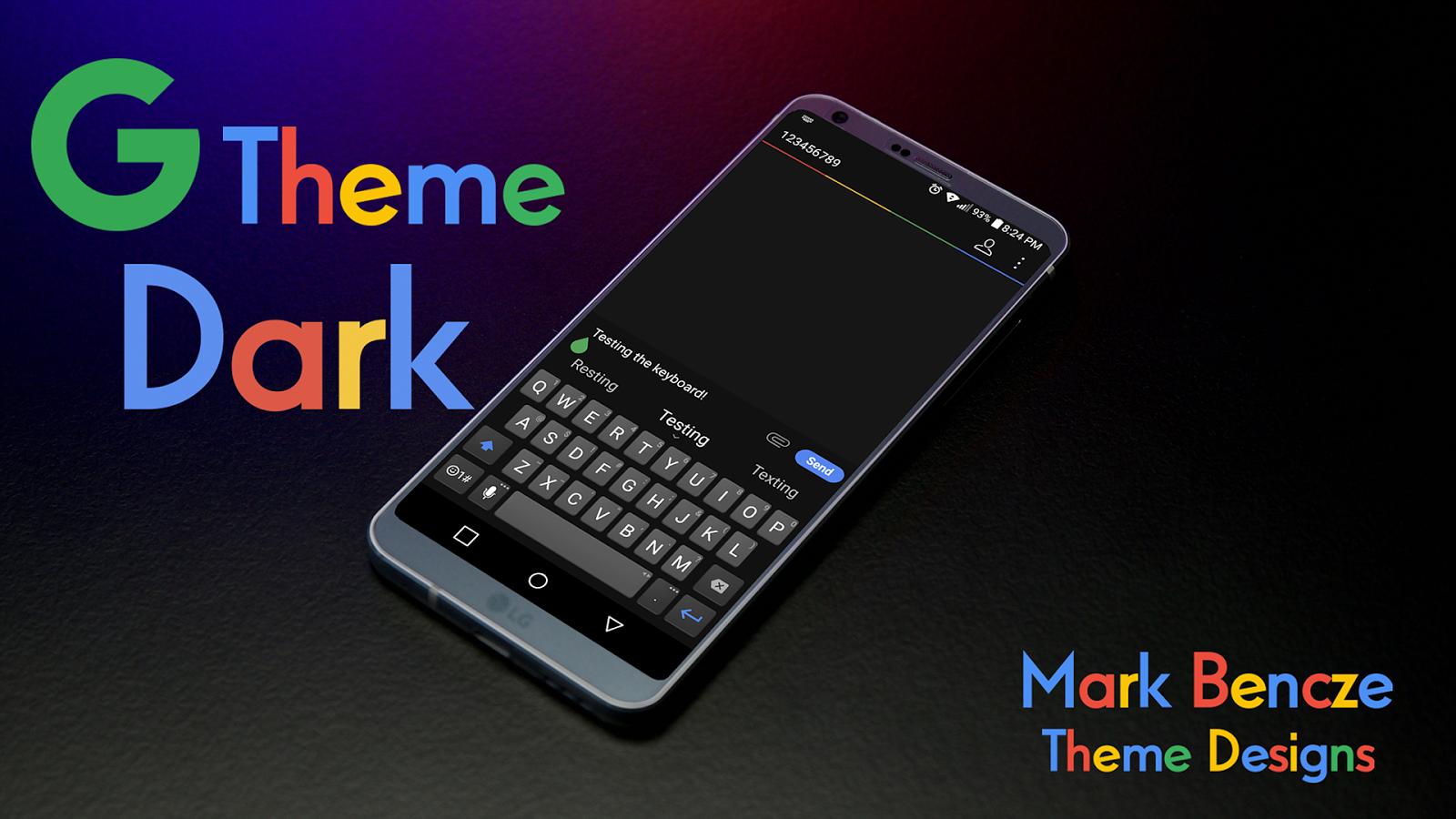 G Theme Dark für LG G6 android apps download