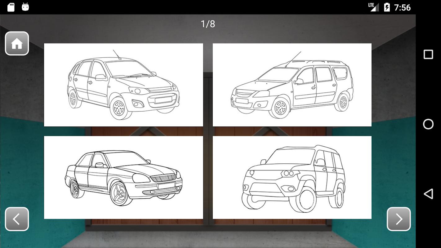Russian Cars Coloring Book APK