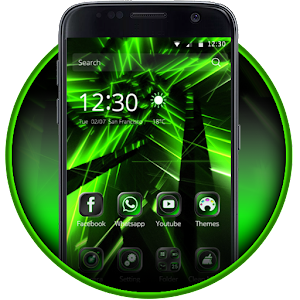 Neon Green Theme Tech Launcher