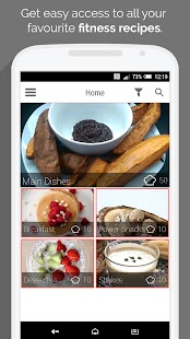 Fitness Recipes by MyFitFEED Fitness app screenshot for Android