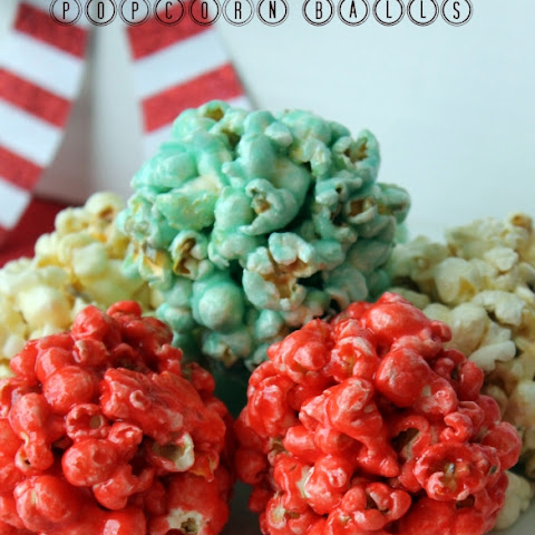 Red White Blue Popcorn Balls