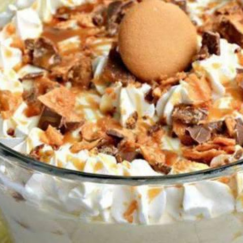 Butterfinger Banana Pudding.