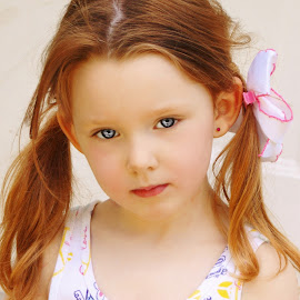 Being Serious Expression by Cheryl Korotky - Babies & Children Child Portraits