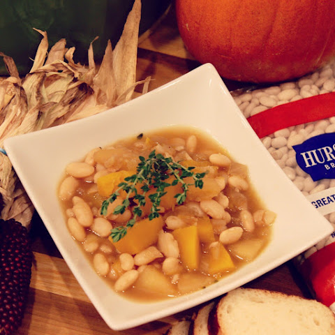 Great Northern Bean, Pumpkin and Apple Stew