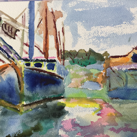 Boat by Jeanne Knoch - Painting All Painting