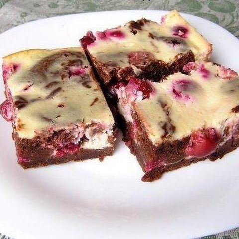 Brownie With Cream Cheese And Cherry
