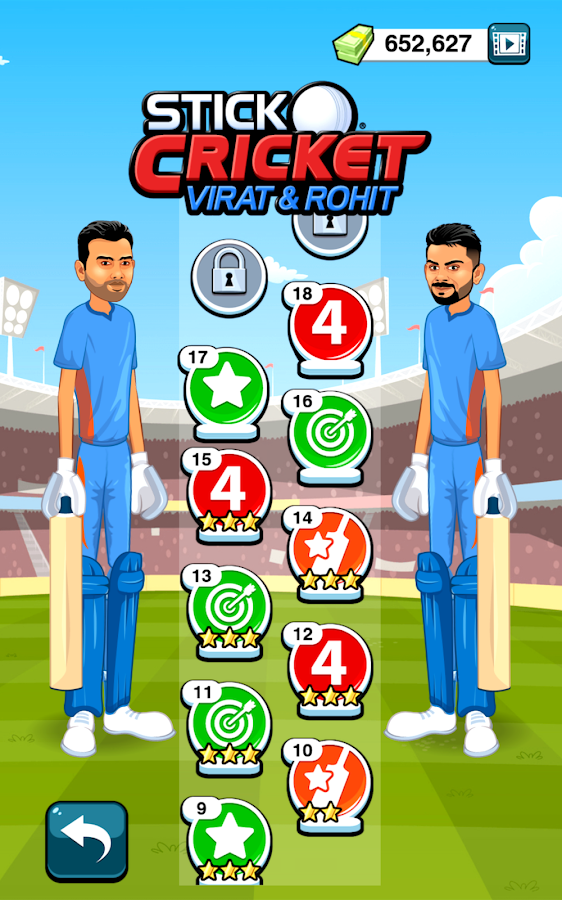 Stick Cricket Virat & Rohit Screenshot 1