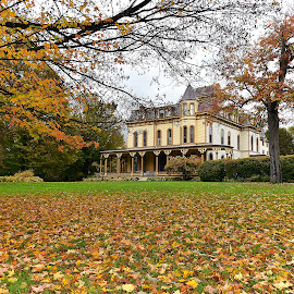 Park Mccullough House by Dawn Hoehn Hagler - Buildings & Architecture Homes ( home, fall, victorian, park mccullough house, house, vermont, architecture )