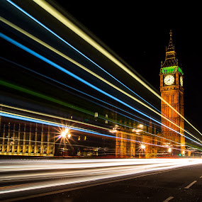 Classic ... London ! by Emanuel Fernandes - City,  Street & Park  Night ( londres, london, church, ben, light,  )