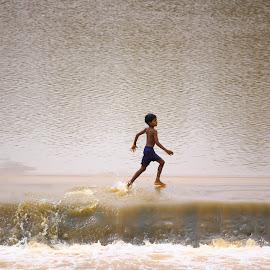 Race... by Fenil Patel - People Portraits of Men ( adventure, people, portrait, river )