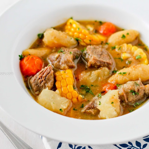 BEEF SOUP WITH CORNMEAL DUMPLINGS