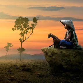Just You & Me by Chegu Diman - People Fine Art ( diman, village, interest, asia, human interest, rol, chegu, human )