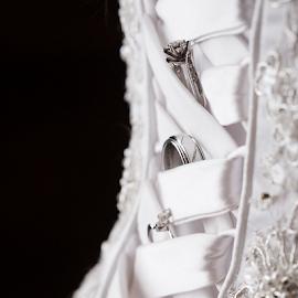The Rings by John Edwin May - Wedding Details ( macro, wedding, white, wedding dress, rings )