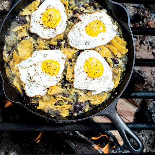 Chilaquiles with Blistered Tomatillo Salsa and Eggs