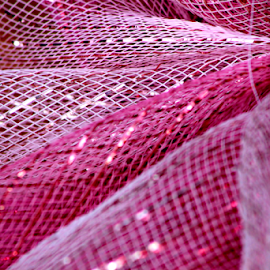 Pink is for Survivors by Leah Zisserson - Abstract Patterns ( pink, rhode island, netting, survivors, squares, shiny,  )