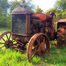 old farm tractor by Chris Winner - Transportation Other ( #old #farm #tractor #rust )
