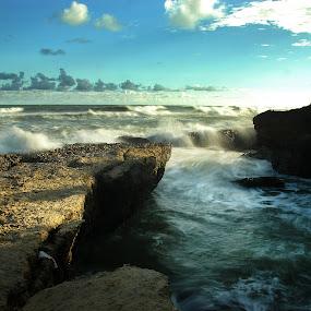 Blue beach by Jenni Ertanto - Landscapes Beaches ( water, nature, stone, beach, landscape )