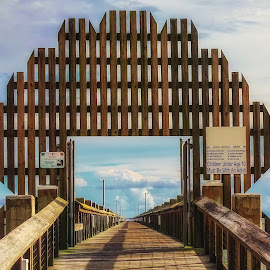 aPIERently Well Built by Dave Walters - Buildings & Architecture Public & Historical ( water scene, wood, architscture, colors, ms, pier, pascagoula, lumix fz2500 )