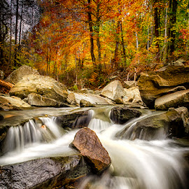 Autumn's Flow by Kevin Miller - Landscapes Mountains & Hills