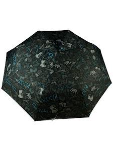 """Зонт """"Компакт L"""", 110см, черно-синий"""