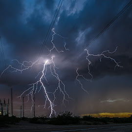 Powering the Grid by Ed Mullins - Landscapes Weather ( lightning )
