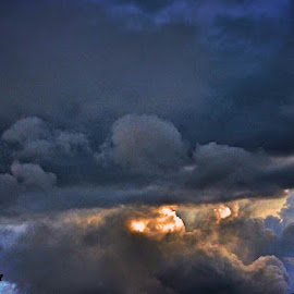 Distant storm by Bill Martin - Landscapes Cloud Formations ( storm cloud, weather )