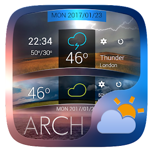 Arch Go Weather Widget Theme   Android Apps On Google Play