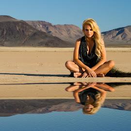 Desert Illusion by David Senecal - People Portraits of Women
