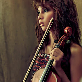 Music of the heart by Thirdee Balleras - People Portraits of Women